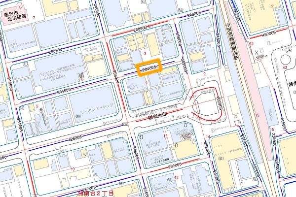 湘南台駅周辺の路線価